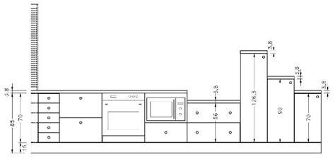 hauteur de meuble de cuisine meubles bas de cuisine équipée
