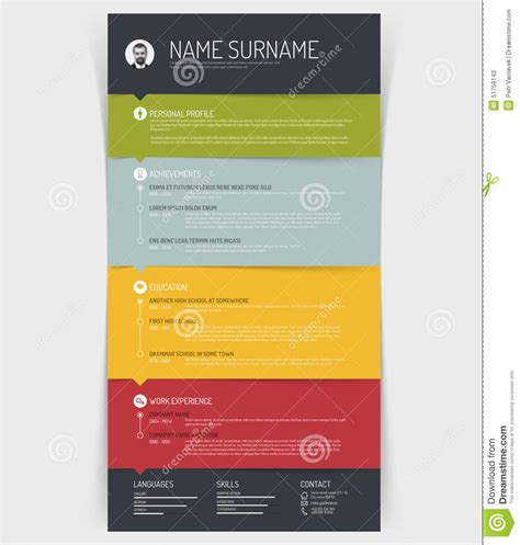 Cv  Resume Template Stock Vector  Image 51759143. Curriculum Vitae Modello Prax Gratis. Resume Builder Free Template Download. Resume Skills Human Resources. Curriculum Vitae Modello Infermiere. Resume Format Page 2. Cover Letter Example Product Manager. Curriculum Vitae Vs Cover Letter. How To Write A Cover Letter For Internship