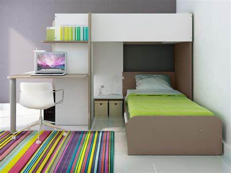 lit avec bureau intégré lits superposés samuel 2x90x190cm bureau intégré 3