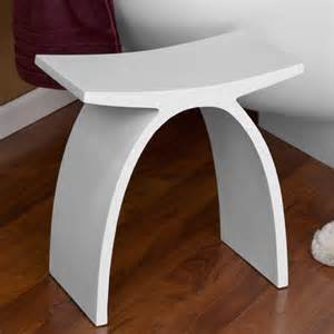dahlia resin bath stool white matte finish modern vanity stools and benches by signature