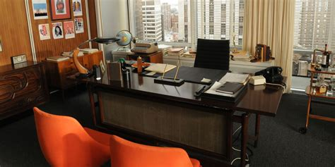 maen interieur mad men office decor mad men set design