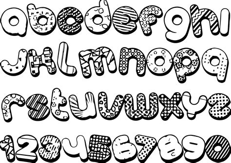 Grafiti Abjad Hitam Putih : Gambar Wallpaper Mewarnai Hitam Putih Huruf Alfabet Anak