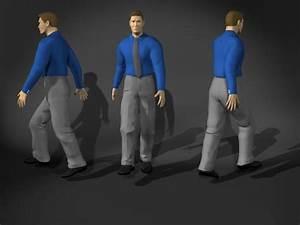 Business, Man, Walking, Pose, 3d, Model, 3d, Studio, 3ds, Max