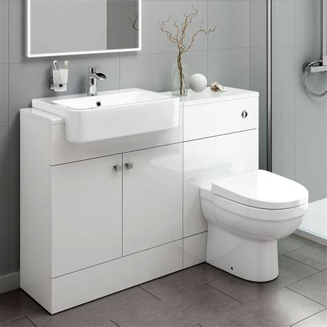 toilet with built in sink 1160mm white bathroom vanity unit sink and toilet