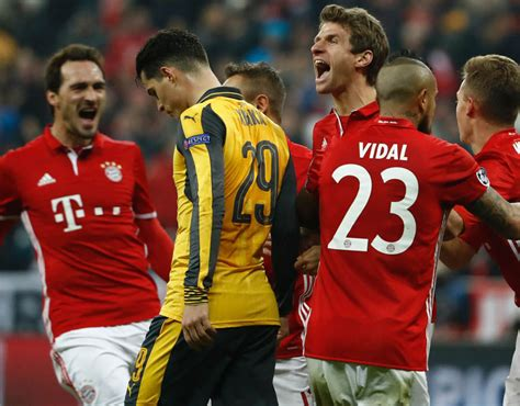 Arsenal 1 Bayern Munich 5 (2-10 on agg): Gunners crash out after another Euro embarrassment in their biggest ever defeat at the Emirates marred by protests...