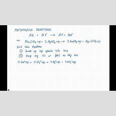 42 Metathesis And Net Ionic Equations Youtube