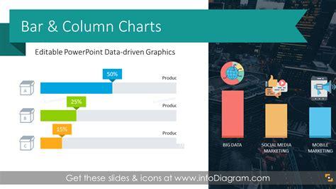 bar chart design templates  stacked column graphs