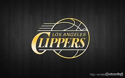 Clippers Angeles Los Nba Basketball Wallpapers Gold
