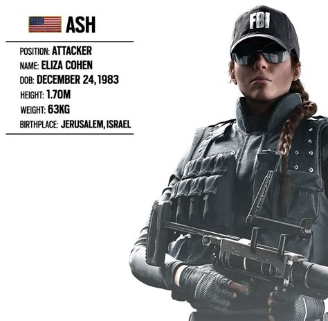 what does siege operator spotlight 6 ash fbi swat unit rainbow six
