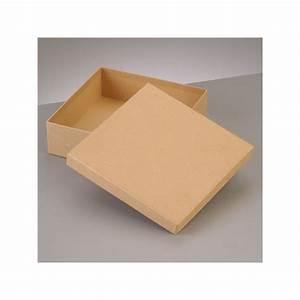 Boite En Carton Avec Couvercle : boite plate carr e de rangement avec couvercle en carton ~ Dode.kayakingforconservation.com Idées de Décoration