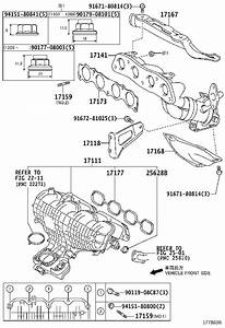 Toyota Prius Engine Intake Manifold  Exhaust  Directs  Cylinders - 1712037054