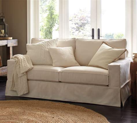 pottery barn sleeper sofa pottery barn sofa slipcover dropcloth fit slipcover