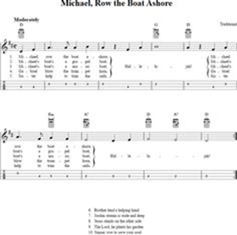 Michael Row The Boat Ashore Easy Chords by Mandolin Blank Printable Chord Boxes Mandolin