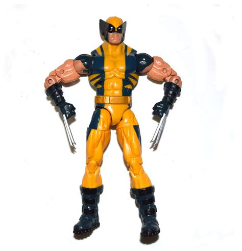 wolverine legends logan yellow marvel action figure series loose puck toys toy figures movie box