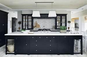 cuisine noire la nouvelle tendance deco With cuisine noire et blanche