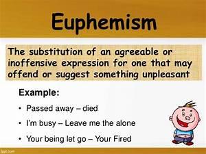 Euphemism Examples Sentences Figure Of Speech