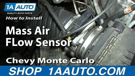 replace mass air flow sensor   chevy monte