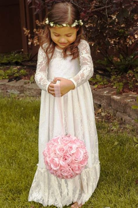 airy  beautiful boho flower girl dresses weddingomania