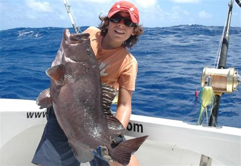 fishing rodrigues rod groupers club grouper island mauritius jigging ocean indian team caught different