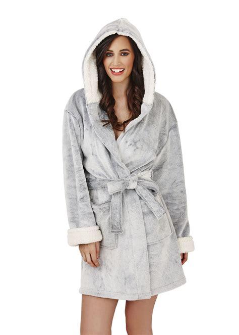 robe de chambre femme polaire avec capuche femmes polaire souple pyjama peignoir robe de chambre