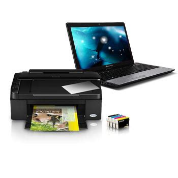 bureau pour pc portable et imprimante materiel un pc portable packard bell et une