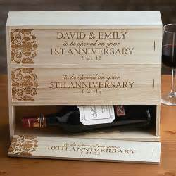 Anniversary Wine Box Wooden
