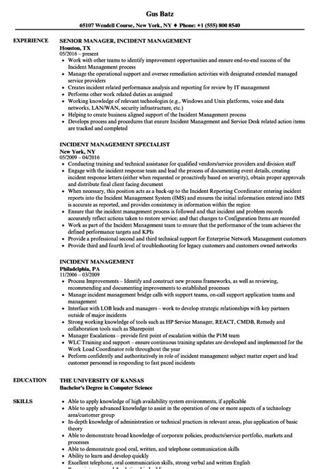 Incident Management Resume Samples  Velvet Jobs. Masters Degree Information Technology. Pest Control Carrollton Tx Direct Tv Outages. Miami Fishing Boat Charter Real Estate I R A. Cheap Car Insurance New Driver. Criminal Lawyers In Columbia Sc. Free Auto Insurance Quotes Online Comparison. Bank Of America Check Account. Free Data Visualization All Service Insurance