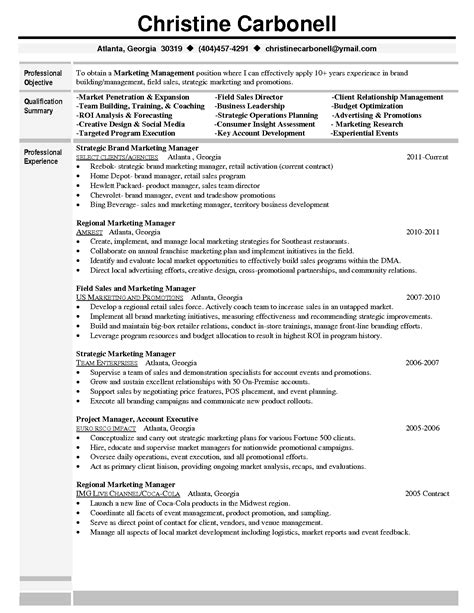Program Manager Resume Template by Brand Marketing Manager Resume Check Out More