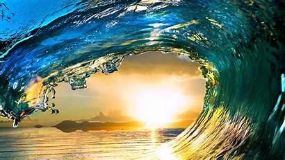Ocean Wave Wallpapers Water Tsunami Dawn Sunset