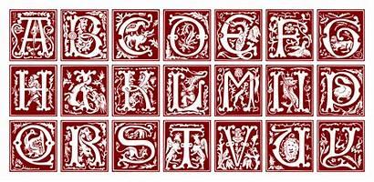 Alphabet Ornamental Svg Century Letters Illuminated 16th