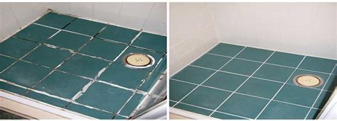 Bathroom Tile Grout Replacement