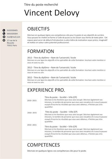 Exemple Des Cv Professionnel by Exemple De Cv Classic Gratuit 224 T 233 L 233 Charger