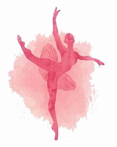Ballet Ballerina Silhouette Dancer Watercolor Clipart Danse