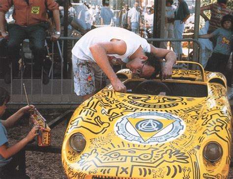 cars  keith haring  painted