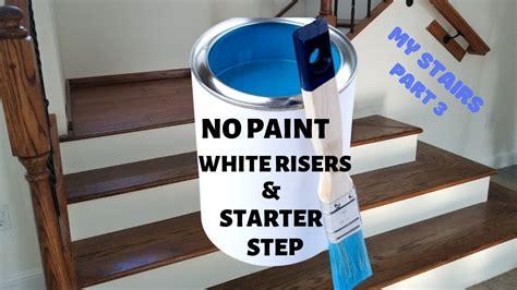 paint white stair risers starter step  secret