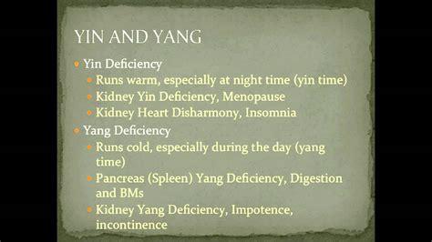 tcm yin deficiency symptoms