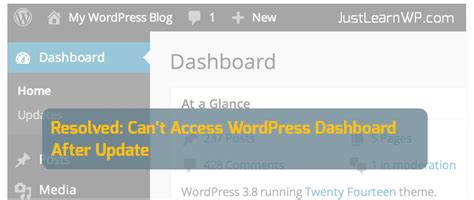 Can't Access Wordpress Dashboard After Update