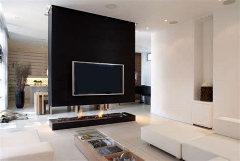 Wohnzimmer Ideen Tv Wand by Beautiful Simple Wall Mounted Tv Idea For Room Divider In