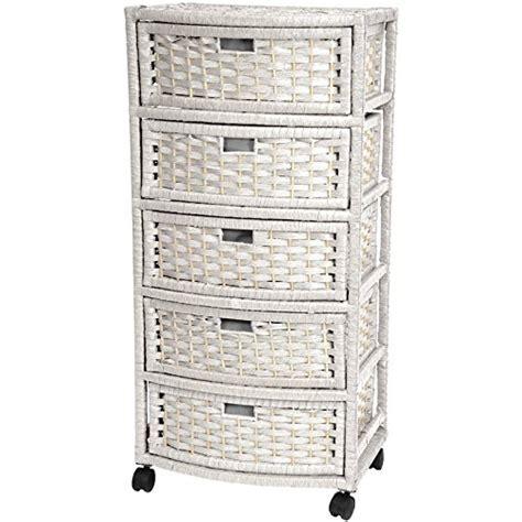 white wicker storage rattan linen chest cabinet bathroom