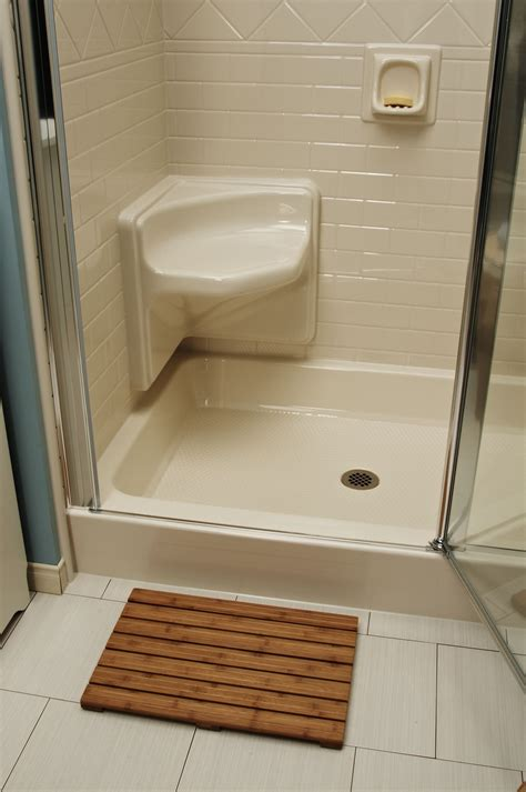 bath fitter  install  built  shower seat bath