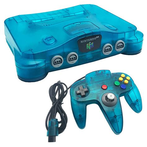 nintendo n64 console nintendo 64 blue console pre owned the gamesmen