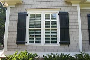 Board and batton shutters exterior home design pinterest for Shutters house exterior