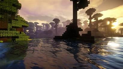Minecraft Sunset Gameplay Computer Games Pc Dusk