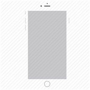 Apple, ios, iphone6, mobile, phone, smartphone, white icon ...