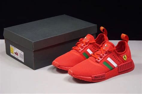 Free shipping options & 60 day returns at the official adidas online store. Ferrari X Adidas NMD R1 Boost Custom Running Shoes Triple ...