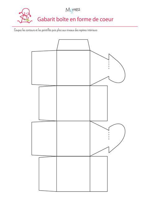 fabriquer  boite cadeau en forme de coeur gabarit