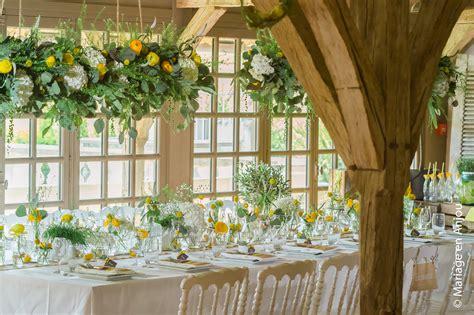 decoration mariage champetre jaune