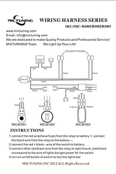Mictuning Mic Led Light Bar Wiring Harness Fuse