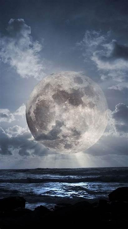 Moon Smartphone Wallpapers Sea