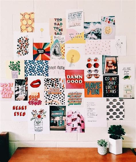 The organised student study pinterest spaces students and room via pinterest.com. gallery wall, mood board   Dorm room decor, Room decor